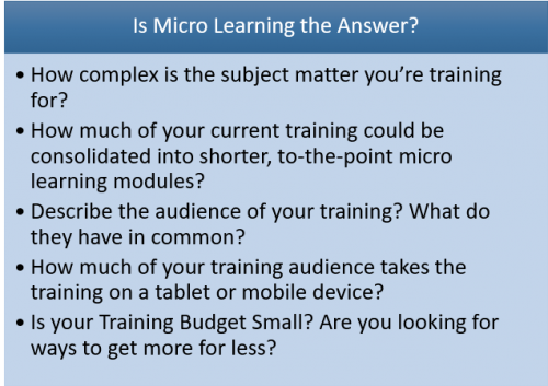 Is Micro Learning the answer