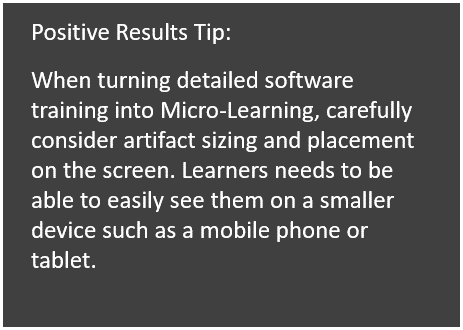 Micro Learning tip